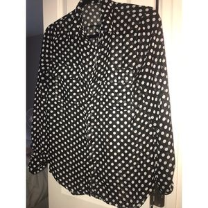 Forever 21 sheer button down blouse
